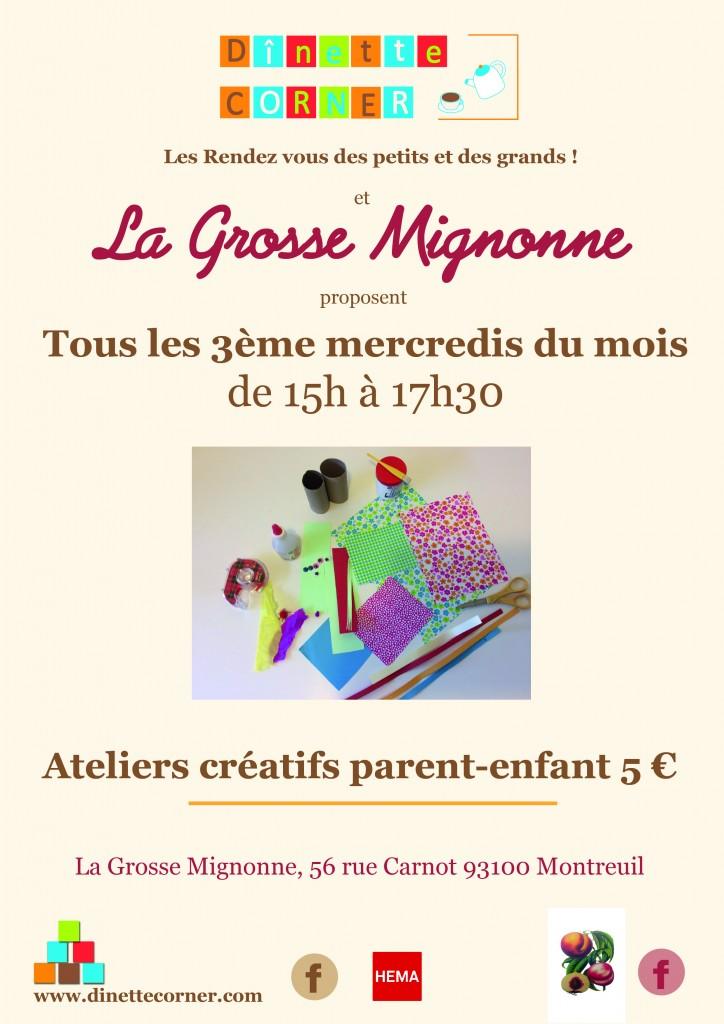 affichette atelier la grosse Mignonne