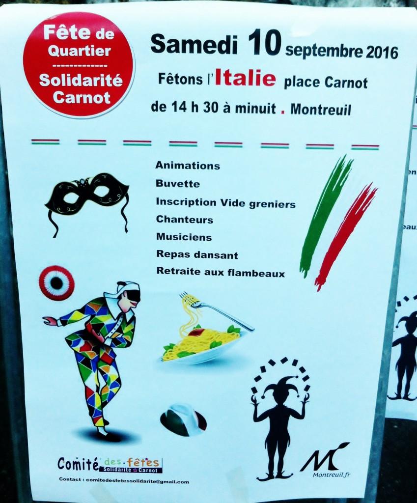 fête de quartier carnot theme italie