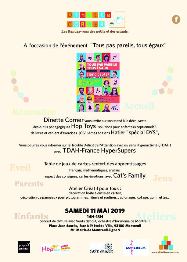 Communiqué Dînette Corner 11 MAI 2019